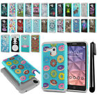 For Alcatel Onetouch Fierce XL 5054 Hybrid Bumper Shock Proof Case Cover + Pen