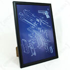 US Colt 1911 Pistol Framed Blueprint - Print Picture American WW2 Military Army