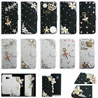 For LG Phone Leather Case Bling Crystal Rhinestone Diamond Wallet Cover Skin TY1