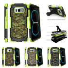 For Samsung Galaxy S8 G950 (2017) Clip Stand Green Case Abstract Camouflage