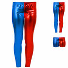 Kids Metallic Harley Quinn Suicide Squad Costume Shorts Pant Legging Fancy Dress