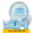 ONE/1 LITTLE STAR BOY Birthday Party Range - Tableware & Decorations {Creative}