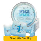 Age 1 - ONE LITTLE STAR BOY 1st Birthday Party Range - Tableware & Decorations