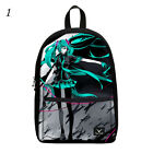 Vocaloid Hatsune Miku Cosplay Boy Girl Canvas Backpack Schoolbags Collection Bag