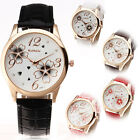 Delicated Fashion Women Dress New Sport Flower Girls Quartz Analog Wrist Watch