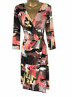 NEW M&S Per Una Mock Wrap Dress Size 18 or 24 Orange Black Spring Summer