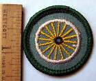 Girl Scout 1963-1980 Junior CYCLIST BADGE Bike Wheel Patch CHOOSE Fabric/Year