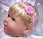 ORGANZA BABY REBORN HEADBAND PINK WHITE YELLOW PURPLE LAVENDER PREEMIE TO 12M
