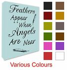 Angel Wall Picture Quote Feathers Appear When Angels Are Near Canvas Prints