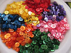 LOT OF 250 ASSORTED COLOR SELECTION 2 & 4 HOLE 5/16 to 9/16 INCH BUTTONS