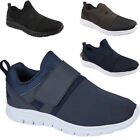 MENS TRAINERS VELCRO RUNNING JOGGING SPORTS GYM FITNESS SHOES SIZE UK 7 8 9 -12