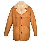 New Sheepskin Aviator Style Men's Sheepskin Jacket - Edward - Tan - Size 38 - 48