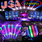 12-600Pcs Light-Up Foam Sticks LED Rally Rave Glow Baton Wands Concert Suppliers