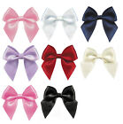 "NEW 50mm 2"" Pre Tie Bows 19mm Satin Ribbon  Eco Quality Kids Wedding Craft Gift"
