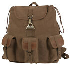 Vintage Style Canvas Pack Backpack Wayfarer Leather Accents Rothco 9693