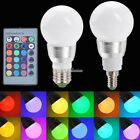 E27/E14 10W RGB LED Light Color Changing Lamp Bulb 85-265V With Remote SH01