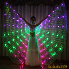 rechargeable led isis wings glow belly dance light up dancer costumes sticks bag
