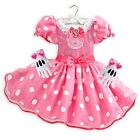 Disney Store Minnie Mouse Halloween Costume Dress Gloves Set Girl Size 3