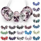 5/10pcs Murano Lampwork Glass Beads Handmade Fit European Bracelet 2Size JALB4