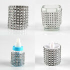 10/50/100PCS Silver Rhinestone Napkin Ring Wedding Party Chair Sash Dinner Decor