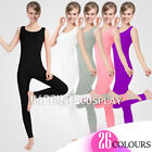 Unisex Lycra Spandex Unitard Scoop Neck Tank Sleeveless Footless Elastane