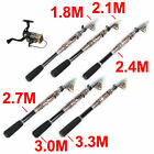 Hiking Boat Carbon Fiber Retractable Portable Fishing Spinning Rod Pole