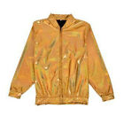 80s Style Holographic Foil Laser Effect Jacket - Gold - Various Sizes