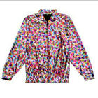 80s Style Holographic Foil Laser Effect Jacket - Rainbow - Various Sizes
