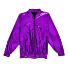 80s Style Holographic Foil Laser Effect Jacket - Purple - Various Sizes