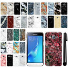 For Samsung Galaxy J3 J310 J320/ Sol/ Sky S320 Marble HARD Back Case Cover + Pen