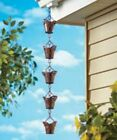 Decorative Iron Rain Chains Porch Patio Deck Home Decor Butterfly Bird