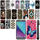 For Samsung Galaxy J3 Emerge J327 2nd Gen Butterfly HARD Back Case Cover + Pen
