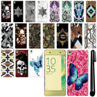 For Sony Xperia XA F3111 F3115 F3116 Butterfly Design HARD Back Case Cover + Pen