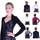 Womens Long Sleeve Shrug Bolero Cropped Knit Stretch Cardigan Short Top Sweater