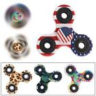 Color EDC Fidget Spinner Ceramic Finger Spin Stress Hand Desk Toy ADHD Autism TS