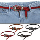Women's Vintage Accessories Dress Fashion Casual Thin Leisure Leather Belt