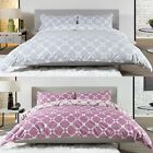 GEO MODERN GEOMETRIC PRINT DUVET COVER LUXURY 100% COTTON EASY CARE QUILT SET