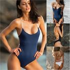 Women Backless Beach Swimsuit Swimwear Bodycon Bikini Lace Up Bandage Bodysuit