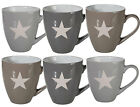 Lovely and Homely Stoneware Star Coffee Tea Kitchen Home Mugs 11.5 x 10 cm