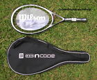 New Wilson Ncode NW W2 Black Whisper 117 Adult Racket + case 1/2 (4) unstrung