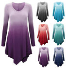 Plus Size Women Loose Casual Long Sleeve Top Blouse Ladies Oversized Shirt Dress