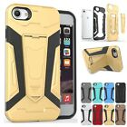 Shockproof TPU + PC Combo Stand Popular 3 in 1 Back Case Cover For iPhone 7
