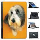 Bearded Collie Dog Folio Leather Case For iPad Mini & Retina