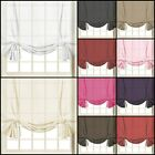 "Voile Plain Tied Blind Curtain Panels | 59"" Wide x 54"" Drop 