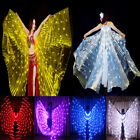 rechargeable LED isis wings 182 lights belly dance glow dancing show sticks bag