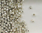 Sterling Silver 4mm Mirror Spacer Beads, Choice of Lot Size & Price