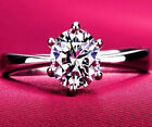 Never Fading Rhodium Plated  AAA+ cubic Zircon 1ct  Engagement Rings