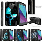 For Samsung Galaxy Sol 2, Galaxy Amp Prime 2 Dual Layer Case Stand Blue Shades