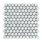 Carrara White Italian (Bianco Carrara) Marble 1 inch Hexagon Mosaic Tile
