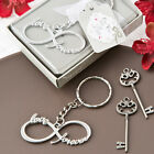 Infinity Silver Metal Key Chain Wedding Favor - 50-144 Qty